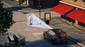 A Ford usa um sensor de distância para detectar o perigo de uma colisão