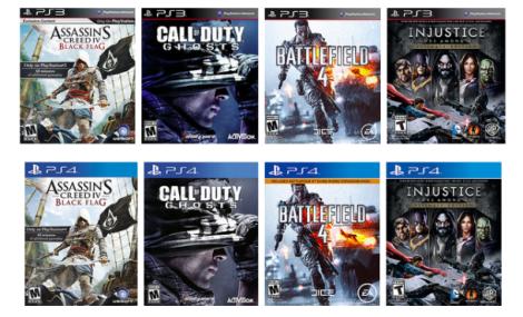 Por um tempo limitado selecione jogos do PlayStation 3 que podem ser atualizados para uso no PlayStation 4. (Crédito: Screenshot por Dan Graziano / CNET)