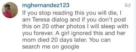 Quem é Teresa Fidalgo, uma mensagem publicada no Twitter