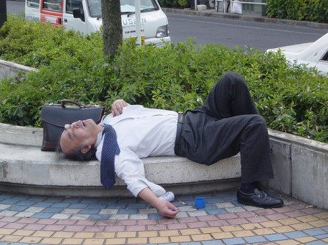 Trabalhador exausto