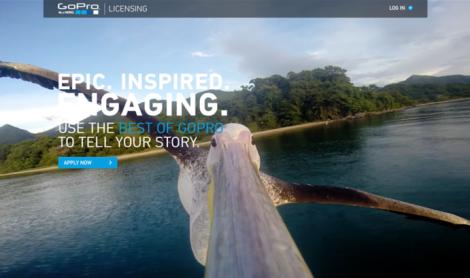 Portal de licenciamento GoPro