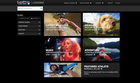 GoPro Portal de licenciamento