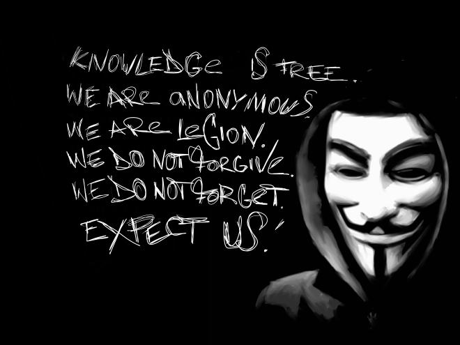 A máscara de Guy Fawkes é comumente usada por grupos que se autodenominam os Anonymous. / Foto: Lorraine Murphy