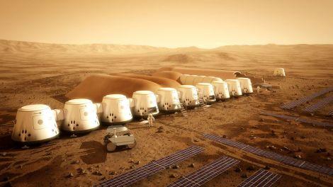 Exemplo de como poderia ser um habitat no planeta vermelho