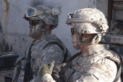 Capacetes dos soldados