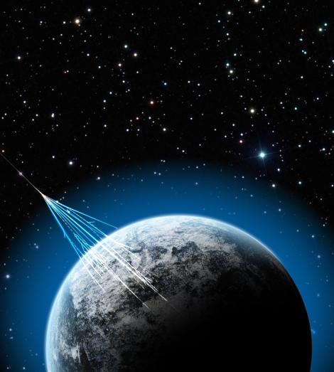 ilustração de raio cósmico