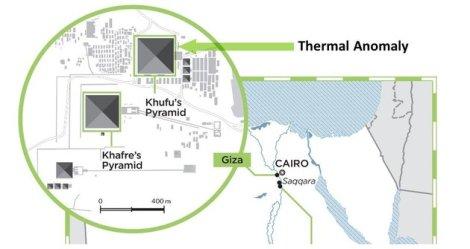 anomalia termal na pirâmide
