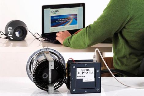 Li-Fi é saudado por seu potencial para aumentar a capacidade de transferência de dados