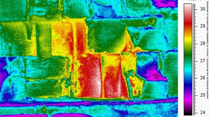 varredura térmica na pirâmide