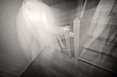 Fantasma na escada