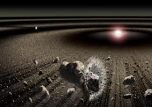 Ilustração de Planetesimal