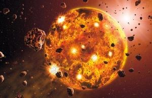 Representação de protoplaneta