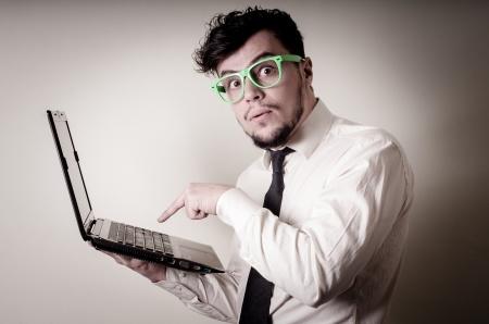businessman using notebook