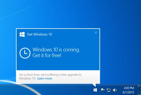 Windows 10 pop up