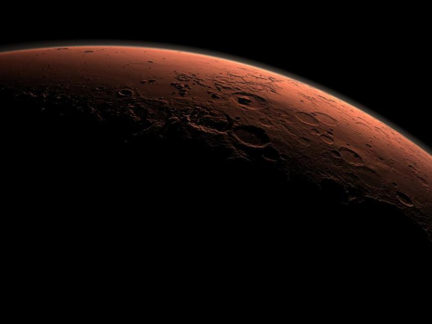 Nascer do dia na Cratera Gale em Marte