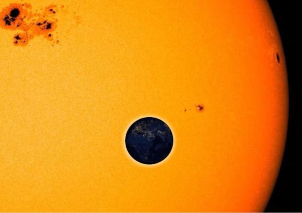 Eclipse solar: quando a Terra passa em frente ao Sol,