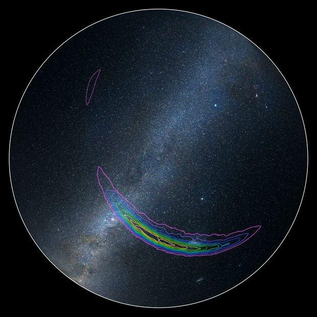 Mapa da fonte original do evento de ondas gravitacionais