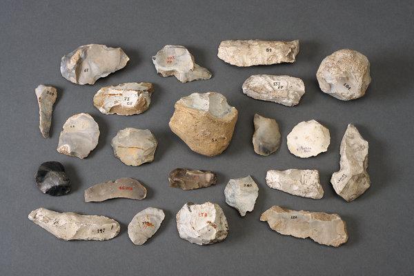 pedras lascadas