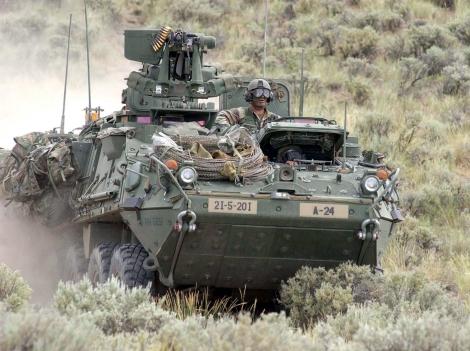 O Stryker é o veículo proposto para receber o sistema laser.
